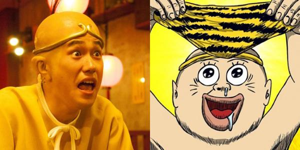 松山ケンイチ演じる山田太郎 (左)と、原作の、山田太郎 (右)